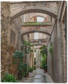 Canvas Print antique Italian alley