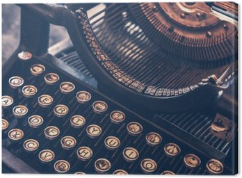 Canvas Print Antique Typewriter