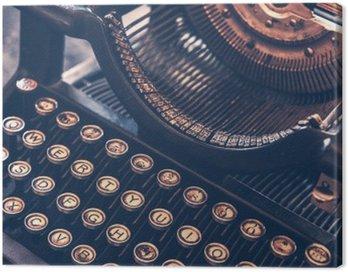 Canvas Print Antique Typewriter