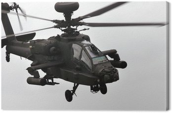 Canvas Print apache helicopter flying