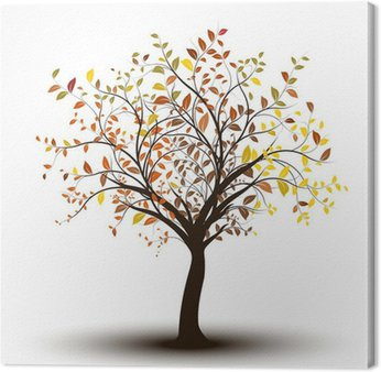 arbre - automne fond blanc, tree in autumn isolated on white