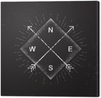 Canvas Print Arrows, compass, grunge design, vector illustration