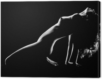 Canvas Print Artistic Nude Woman in Studio