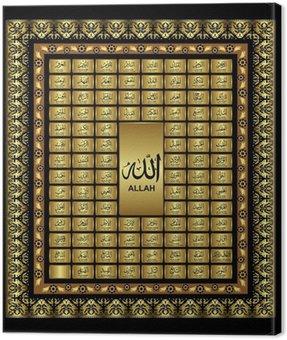 Canvas Print asmaul husna, 99 Names of Almighty Allah