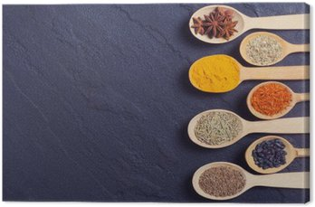 assortment of indian spices Canvas Print
