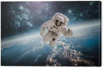 Canvas Print Astronaut outer spac Elements of this image furnished by NASA.