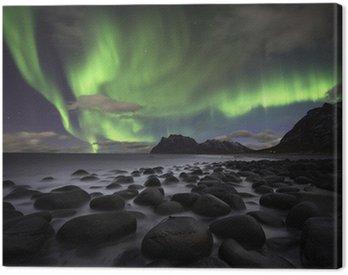 Canvas Print Aurora beach