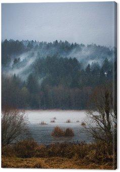 Canvas Print Autumn Fogs / Mists of Vancouver Island
