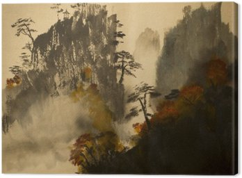 Canvas Print Autumn in the mountains of China