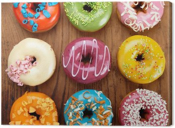 Canvas Print baked doughnuts