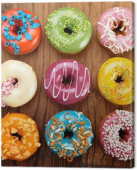 Canvas Print baked doughnuts