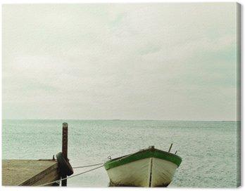 Baltic Sea and boat calm landscape