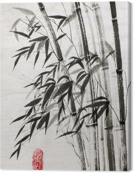 Canvas Print bamboo is a symbol of longevity and prosperity