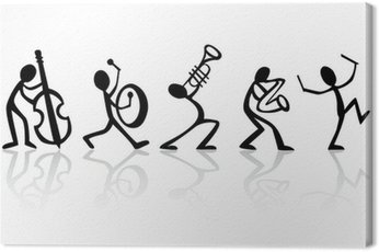 Band musicians playing music, vector ideal for t-shirts