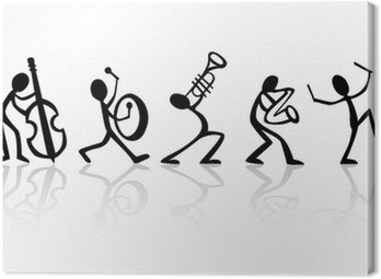 Canvas Print Band musicians playing music, vector ideal for t-shirts
