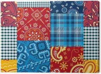 Canvas Print Bandanna patchwork seamless pattern
