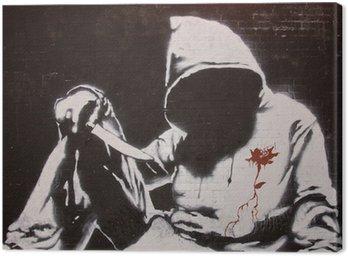 Canvas Print Banksy graffiti at the Cans festival, London