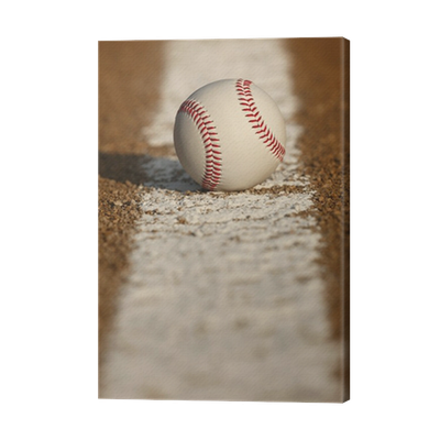 Baseball on the Chalk Line Canvas Print • Pixers® • We ...