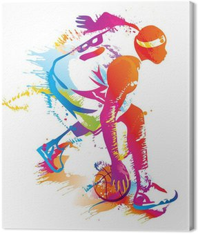 Canvas Print Basketball player. Vector illustration.
