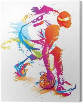 Canvas Print Basketball player. Vector illustration.