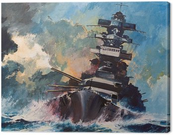 Canvas Print Battle on the ocean