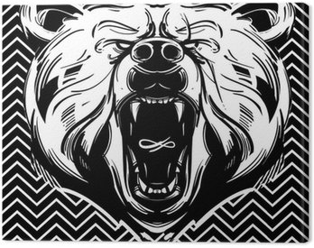Canvas Print Bear face