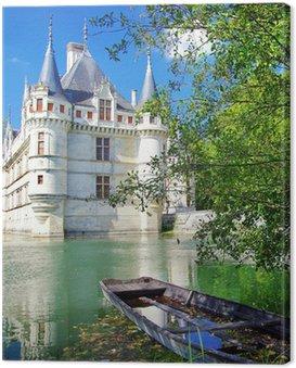 Canvas Print beautiful azey-le-redeau castle