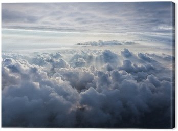 Canvas Print Beautiful blue sky background