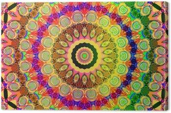 Canvas Print beautiful colored mandala