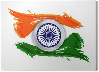 Beautiful Indian flag design Canvas Print