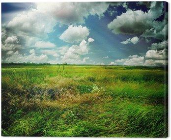 Beautiful Nature Rural Landscape Canvas Print