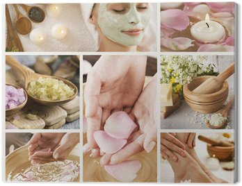 Beautiful Spa Collage Canvas Print