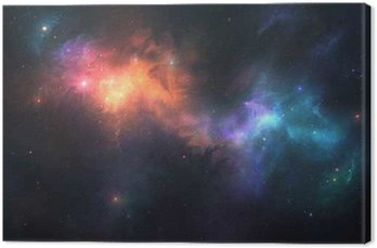 Canvas Print Beautiful space background