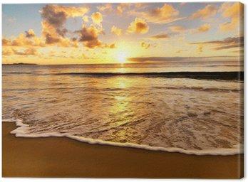 Canvas Print beautiful sunset on the beach