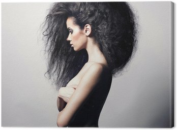 Canvas Print Beautiful woman with magnificent hair
