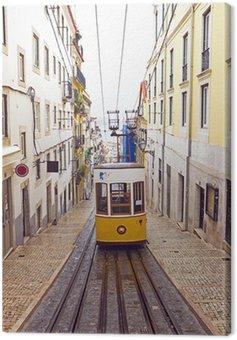 Canvas Print Bica tram in Lisbon Portugal