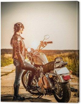 Canvas Print Biker girl