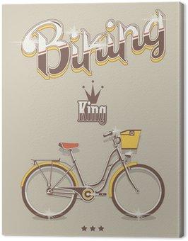 Biking background, vector bicycle king