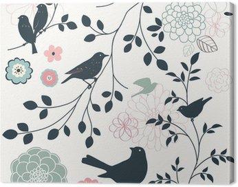 Bird and flower Canvas Print