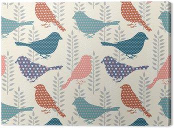 Birds seamless pattern Canvas Print
