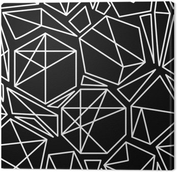 Black and white vector geometric seamless pattern
