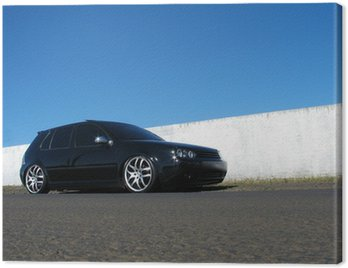 Canvas Print Black Car