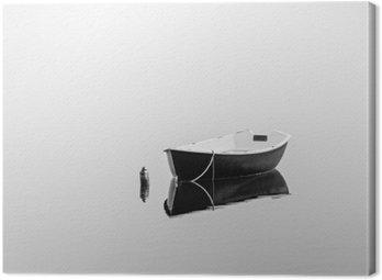 Canvas Print Black rowboat