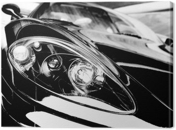 Canvas Print black sport car