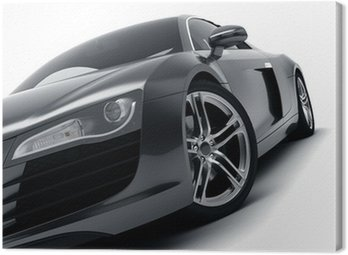 Canvas Print Black Sports Car