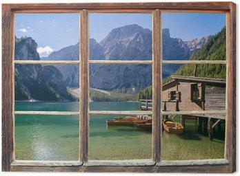 Blick aus dem Fenster Canvas Print