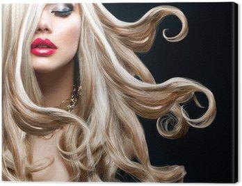 Canvas Print Blond Hair. Beautiful Sexy Blonde Girl