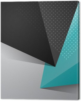 Canvas Print Blue and black abstract design background