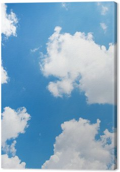 Canvas Print blue sky background with white clouds