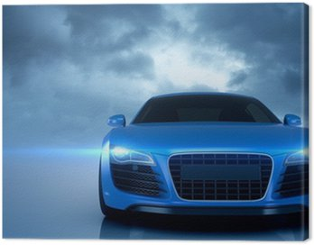 Canvas Print Blue Sport Car
